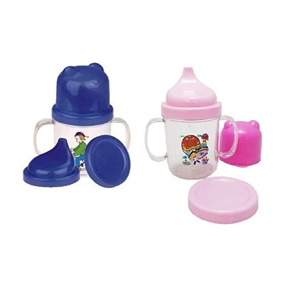 CSM Baby Sipper Cups with Cap/Cover-Combo of 2 Pcs, 300 ml Each.