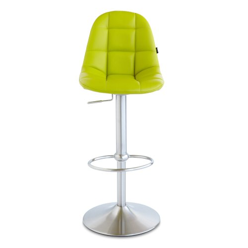 Zuri Furniture Lime Green Rochelle Adjustable Height Swivel Armless Bar Stool