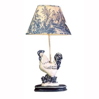 Small Blue Rooster Lamp Table Lamps Amazon Com