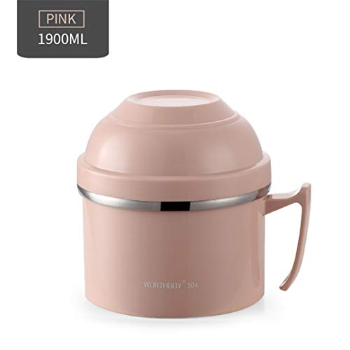 Creative Japanese Lunch Box For Children Food Container Kids Stainless Steel Bento Box Kitchen Instant Noodle Bowl Cup Pink - Box Transformer Metal Lunch