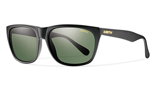 Smith Optics Smith Tioga Sunglasses, Matte Black Frame, Carbonic Polarized Gray green Lens, Gray green (Smith Sonnenbrillen Pivlock)