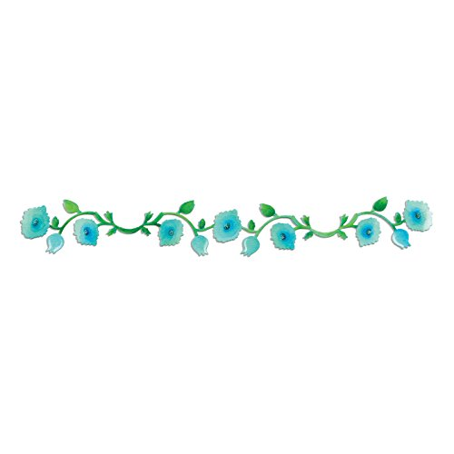 (Sizzix 658511 Sizzlits Decorative Strip Die, Garden Vine by Scrappy Cat, Blue)