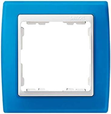 Simon 82613-64 marco 1 elemento s-82 blanco translucido azul Ref 6558230191