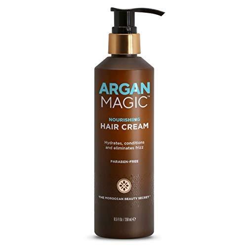 Argan Magic Nourishing Hair Cream - Hydrates, Conditions, and Eliminates Frizz | Paraben Free