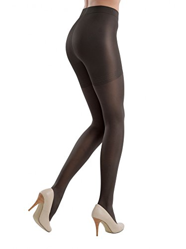 Conte Control Women's Body Shaping Sheer Compression Pantyhose Tights - Control 20 Black, (Body Shaping Pantyhose)