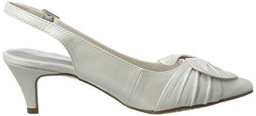Tamaris 29612, Sandalias con Cuña para Mujer Blanco (White 100)