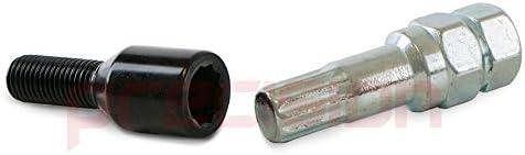 Precision 20 x Black Slim Fit Tuner Alloy Wheel Bolts for ƁMW Z4 PN.SFP-20BM17TKB+Key163
