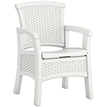 Suncast Elements BMDC1400WD Dining Chair with Storage, White