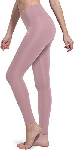 TSLA Women High Waist Yoga Pants with Pockets, Tummy Control Yoga Capris, 4 Way Stretch Capri Leggings with Pockets