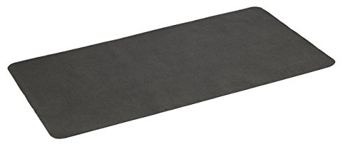 Diversitech Gas Grill Splatter Mat Outdoor Gas Grill BBQ Floor Mat - Absorbent, Place Under Grill - Protects Decks and Patios 60 x 30 Inches Black (Renewed)