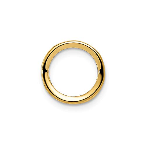 Single Pendant Mounting - Q Gold 14k 6mm Round Bezel Pendant Mounting Length Width