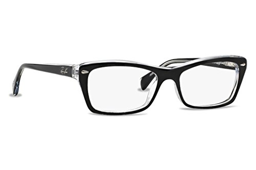 Ray-Ban Women's RX5255 Eyeglasses Top Black On Transparent 53mm by Ray-Ban
