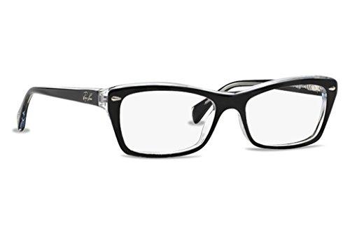 Ray-Ban Women's RX5255 Eyeglasses Top Black On Transparent 53mm