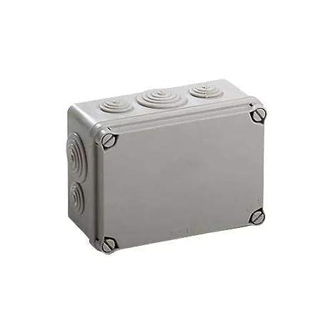 IDE EV111 IP65 Caja Estanca de Derivaci/ón con Tapa Opaca y Conos Gris 108mm x 108mm x 64mm