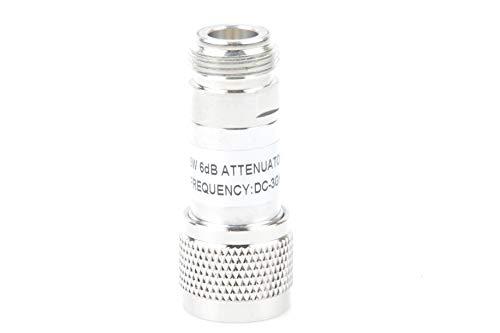 Attenuator 6db - KNACRO N Type Attenuator,5W N-Male to Female Signal Reducer Coaxial RF Attenuator DC to 3GHz 6GHz 50 Ohm DC Blocker (0-3G, 6DB)