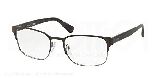 Luxottica Prada Eyeglasses PR64RV LAH1O1 Matte Brown/Gunm...