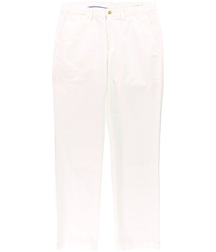 (Lauren Ralph Lauren Men's White Classic Fit Chino Pants 32/32 BHFO 6340)