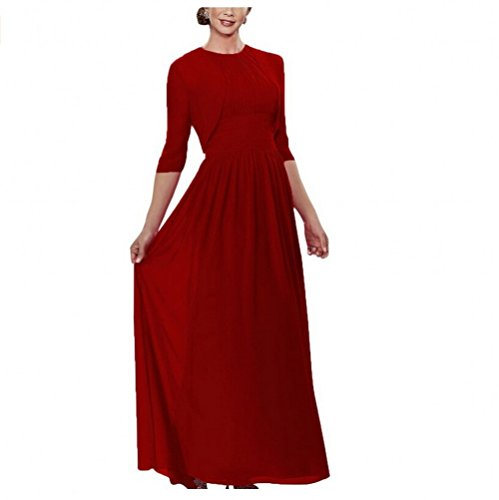 AK Burgundy Bride of The Chiffon Gown Women's Evening Beauty Mother Formal Dresses rqUBrP