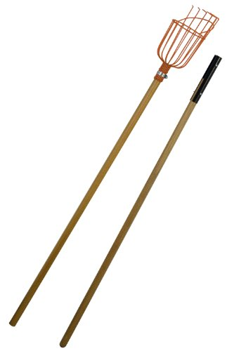 Flexrake LRB189 Fruit Picker with 8-Foot 2-Piece Wood (8 Piece Pick)