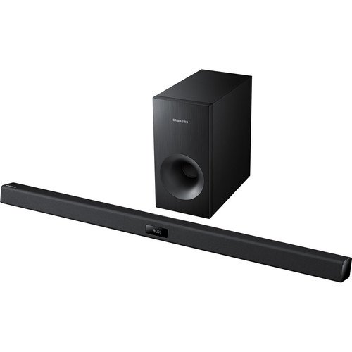 Buy Samsung 2.1 Channel 120 Watts Home Theater Soundbar System with 60 Watt Subwoofer, Bluetooth, Soundshare, Smart On, Smart Volume, 6 DSP Settings, 3D Sound Plus, Crystal Sound Pro, USB Host, Black Finish (online)