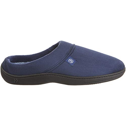 Isotoner Men's Microsuede Devin Hoodback Slippers,  Navy Blue,  XX-Large/13-14 M US A91917NBLXXL