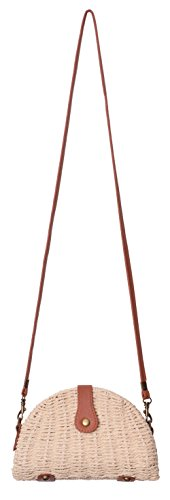 Straw Shoulder Beige Cell Vacation Small Purse Handbag Bag Bag Phone Crossbody Outrip adHwfa