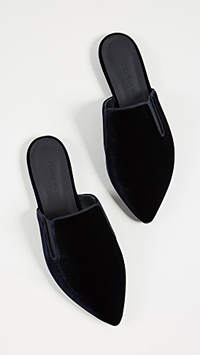 Jenni Kayne Womens Velours Mules Dark Navy