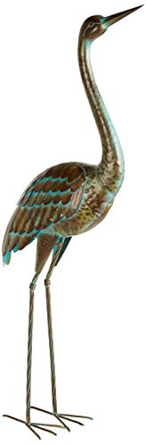 Regal Art &Gift LG Crane up Standing - Garden Statue Heron Blue