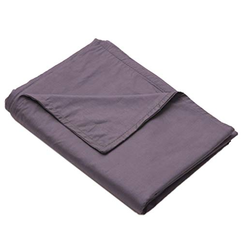 Loving Snuggles Weighted Blanket Cover   Cooling Cotton Queen Size Tie Duvet for Adults & Kids - 60x80 Inches