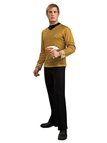 [Rubie's Costume Star Trek Gold Star Fleet Uniform Shirt, Gold, Large Costume] (Star Trek Gold Shirt Adult Costumes)
