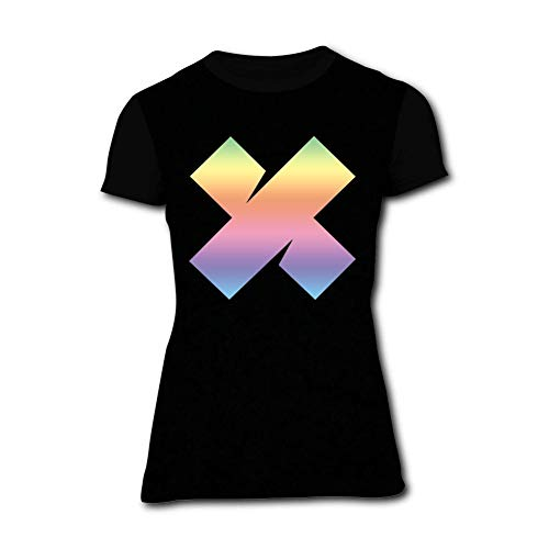 FDARG4RE55Q1 Casual Women's T-Shirts Colorful X Short Sleeve Shirts Tops Tees for Women 3XL ()