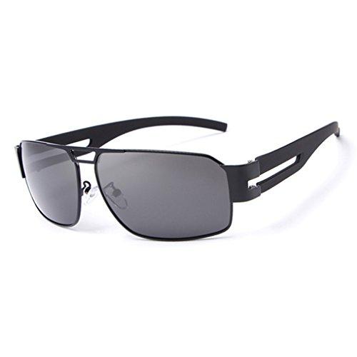 Gafas sol de vendimia protector conducción de de de Gafas la de lente lentes de al la polarizada Negro Hombre sol aire UV retro libre solar las Republe protección de Gafas rSZrnaWHA