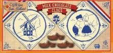 Chocolate Dutch Candy - Steenland Chocolate Shoe (Klompjes or Clogs) Pack of 3