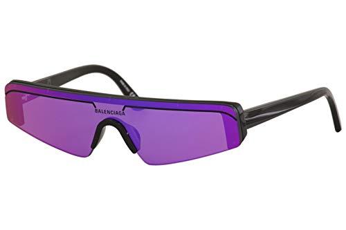 Balenciaga BB0003S Sunglasses 003 Black/Violet Mirror(Double) Lens 99mm