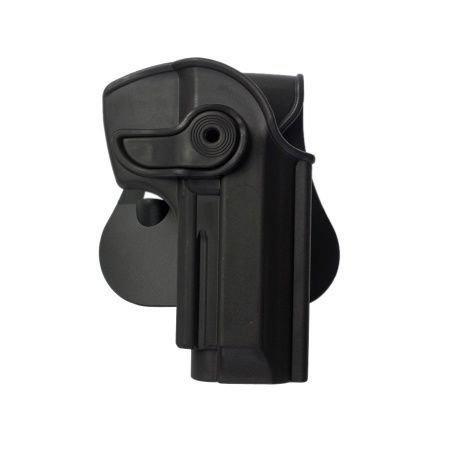 Beretta Cheetah 85FS Polymer Retention Holster Black and a genuine IGWS's firing range earplugs kit.