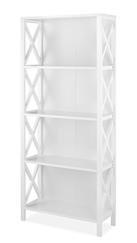 Whitmor X-Frame 4-Shelf Bookcase, White