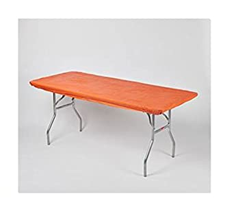 Amazon Com Kwik Covers 30 X 72 Orange Fitted Table Cover Single