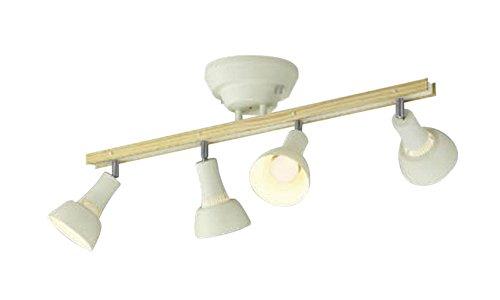 コイズミ照明 シャンデリア 白熱球60W×4灯相当 リモコン ナチュラルウッド色 AA47244L B07218WQNM 32790