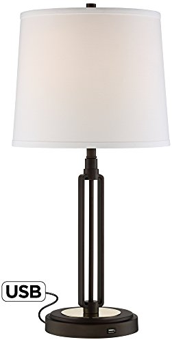Franklin Iron Works Javier Bronze Table Lamp with USB ()