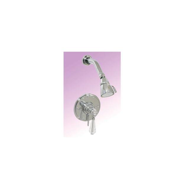 Paul Decorative C763 07PR PR Polished Copper Bathroom Faucets Stratford Crystal Pressure Balance Shower Set   Tub And Shower Faucets