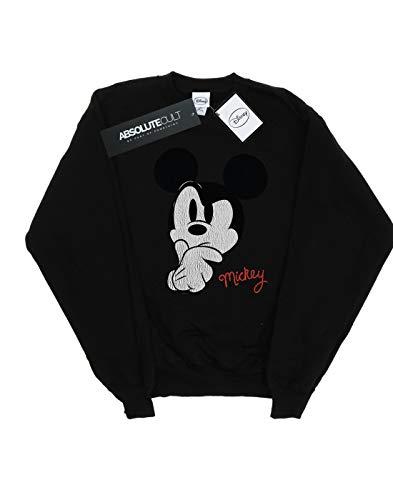 Disney Ponder Schwarz Distressed Mickey Mouse Frau Sweatshirt NkXnOw0P8Z