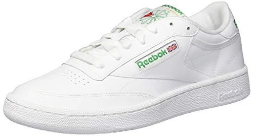 Technology White Papers - Reebok Men's Club C 85 Sneaker, Chalk/Paper White/Glen Green, 8 M US