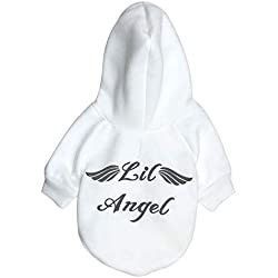 DEESEE(TM)Dog Pet Clothes Hoodie Warm Sweatshirts Puppy Coat Apparel (S, White)