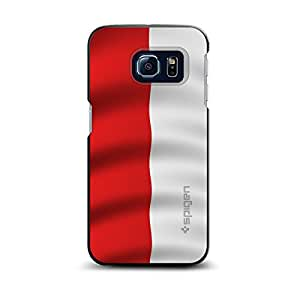 CUSTOM Black Spigen ThinFit Case for Samsung Galaxy S6 EDGE - Poland Waving Flag