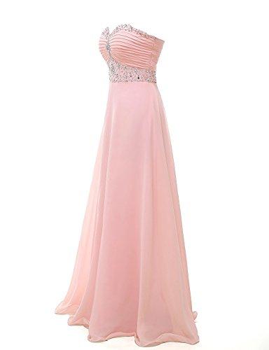 Frauen langen HWAN eleganten Schatz Abendkleider Rosa sagen Perlen Ballkleider Aline pWaaPqwUnx