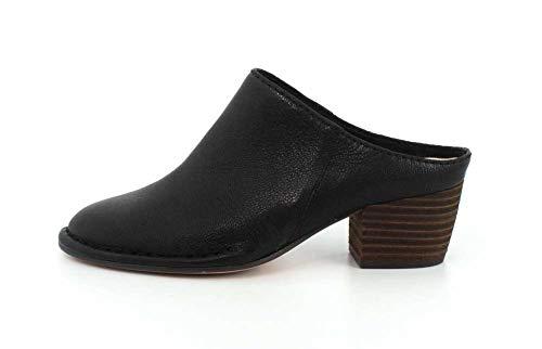 Isla Spiced Leather Womens Black CLARKS nx68wqZ7