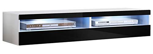 muebles bonitos – Mueble TV Modelo Tobic (160 cm) en Color Blanco y Negro