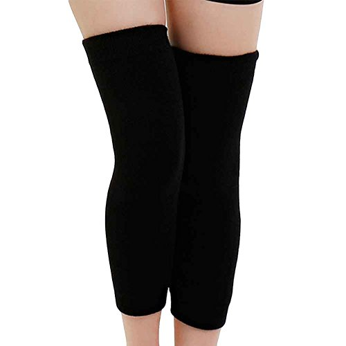ZTL Unisex Cashmere Wool Knee Sleeve Leg Warmers Long Thicken Thermal Knee Brace Support Protector (1 Pair) - For Men Leg Warmer