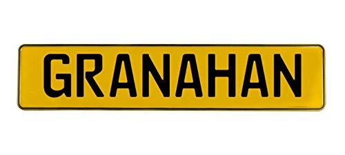 Vintage Parts Granahan Stamped Aluminum Street Sign Mancave Wall Art  Yellow