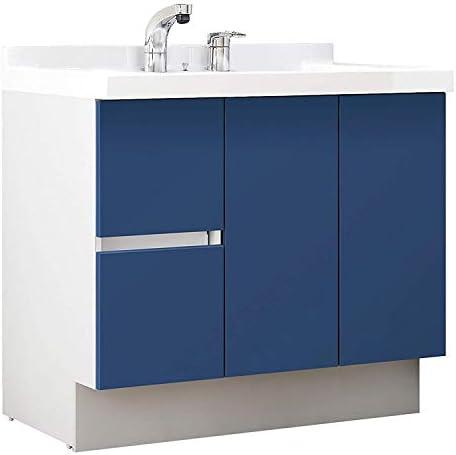 イナックス(INAX) 洗面化粧台 J1プラスシリーズ 幅90cm 片引出タイプ シングルレバーシャワー水栓 J1HT905SYB12H 一般地用 アーバンブルー(B12H)